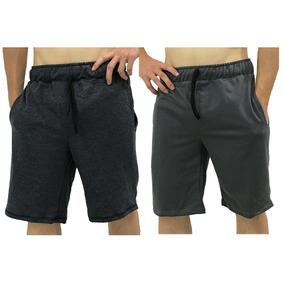 2 Bermudas De Moletinho Moletom Moleton Bermuda Shortes