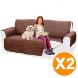 Pack 2 Funda Cobertor Protector Reversible Sofa Sillon 2cuer