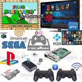 Recalbox Raspberry Game Retro 64gb C10 ++ 2 Controles S/ Fio