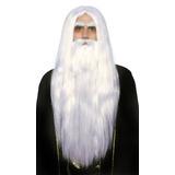 Merlin Set Peluca Y Barba Adult Halloween Costume Accessory