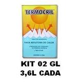 Tinta Térmica Redutora Calor P/ Telhas Termocril Kit 02 Gl