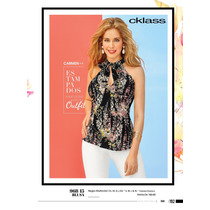 Hermosa Blusa Floreada Casual-formal De Moda Cklass