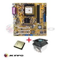 Placa Mãe Asus K8v-mx Socket 754 + Proc. Amd Sempron 3000+