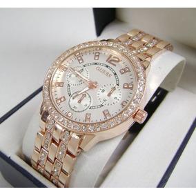 G U E S S . Reloj Dama De Lujo Con Cristales Nuevo Ddb6