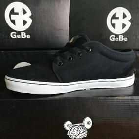Zapatillas Gebe Tango Negro - Lona Skate Tipo Vans