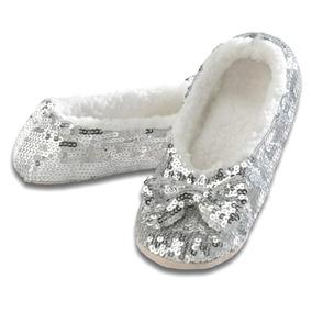 Snoozies Ballerina Bling Metallic Shine Zapatillas De Lente.