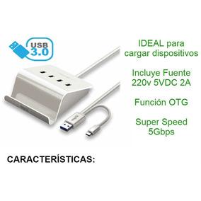 Adaptador Hub Usb Otg 4 Puertos Cable Datos Todo En Uno Carg