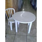 15 Jogos Mesas Redonda Desmontável C/60 Cadeiras De Plástico