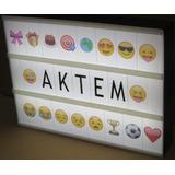 01 Letreiro Luminoso De Led Plaquinhas De Letras Emojis