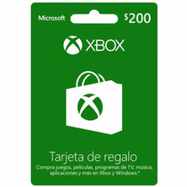 Tarjeta Xbox Live 200 - Se Envía X Email