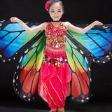 Asa Wings Borboleta Véu Dança Fantasia Arco Iris Infantil