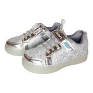 Zapatillas Con Luces Led  Niña Finders Glitter Girl 1389