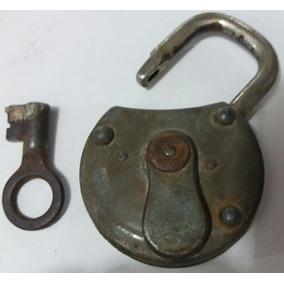 Cadeado C/chave - Brasil Império - Funcionando Perfeitamente
