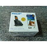 Caixa De Embalagem Com Manual Do Telefone Sem Fio Philips