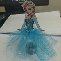 Tubetes Com Saia Tule Frozen, Princesas, Branca De Neve
