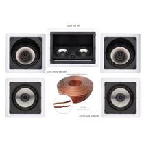 Kit 5.0 Caixa Acústica De Embutir Gesso Loud Home Theater