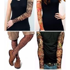 Tatuagem Falsa Manga Tattoo Sleeve Acessório Fake Rock Punk