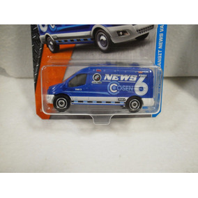 Enigma777 Matchbox Camioneta 14 Ford Transit News Van Azul