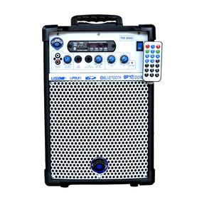 Caixa Multiuso Tb-200 40w Rms Usb Rádio Fm Bluetooth Turbox