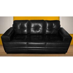 Sofa De Couro 3 Lugares | Montelie