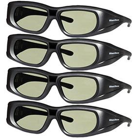 4 Adulto Epson Elpgs03 3d Óculos 3d Céu Recarregável Comp