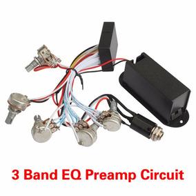 Circuito Ativo Para Baixo 3 Bandas 5 Potenciômetros