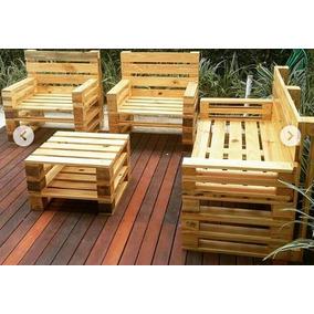 Salas para jardin palets en mercado libre m xico for Comedor hecho de palets