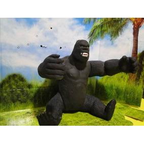 Boneco Gorila King Kong Zoologico 25cm Borracha Macia Preta