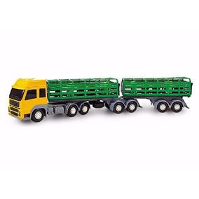 Caminhão Bitrem Boiadeiro Com Bois 60 Cm - Poliplac