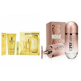 Kit One Million Paco Rabanne + Perfume 212 Vip Rose 80ml