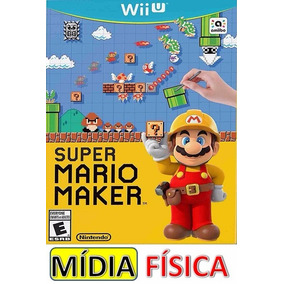 Super Mario Maker Com Art Book Wii U Mídia Física Lacrado