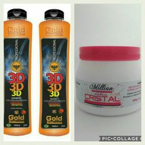 Escova Definitiva 3d Gold Show Premium+brinde -frete Gráiis