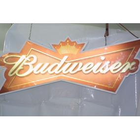Placa Luminosa Budwiser Anos 90
