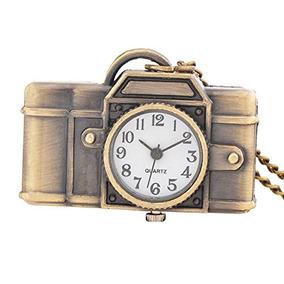 Vintage Cámara En Forma De Reloj De Bolsillo Reloj De Colla