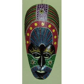 Mascara Africana 30cm Madera Tallada Alta Calidad Variadas