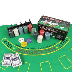 Kit Jogo Lata De Poker 200 Fichas Sem Numeração