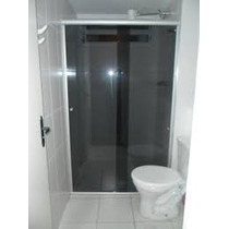 Box Para Banheiro Reto Horizontal Vidro Fumê Tem. 8mm