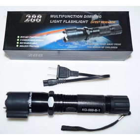Lampara Tactica Led Descarga Electorshock Toques +laser