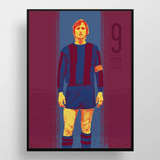 Poster Johan Cruyff Barcelona    Cuadro Alta Calidad 45 X 33