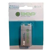 Pilha Bateria 9 Volts Bap Energy Bap-6f Não Recarregável