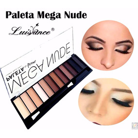 Paleta De Sombra Matte Mega Nude Naked Luisance + Pincel