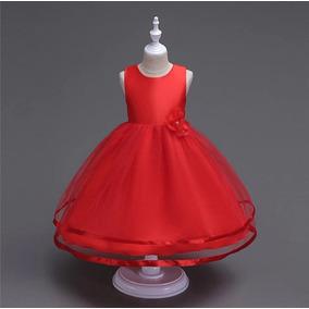 Hermoso Vestido Rojo Para Niña