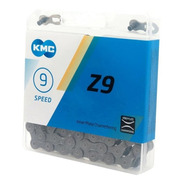 Corrente Kmc Z9 Cinza 116 Elos  9v 18v 27v Mtb Speed Shimano