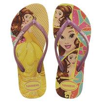 Sandálias Slim Princesas Bella Amarelo 29-30