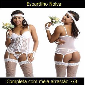Casamento Lingerie Espartilho Noiva Sexy Lua De Mel Núpcias