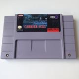 Fita Carrier Aces Original - Super Nintendo