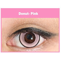 Lente De Contato Pink Donut Circle Lens Olhos De Boneca