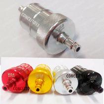 Filtro Combustivel Gasolina Moto Aluminio Cor Prata