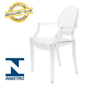 Cadeira Acrílica Design Louis Transparente Cristal