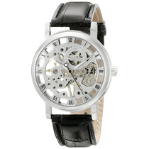 Shoppewatch Mens Mecánico Esquelético Reloj Mano Viento Hast